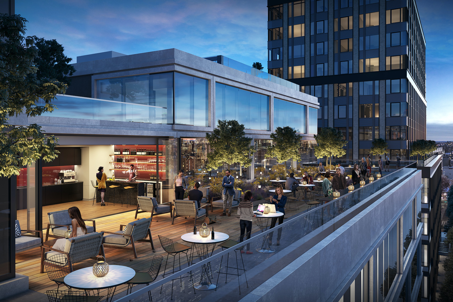 155 Delancey Street | Rooftop Entertainment Space